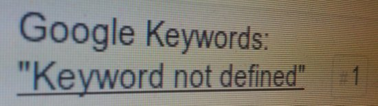 Keyword not defined